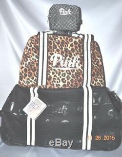 Victoria Secret Rose Leopard 3 Pc Bagages Wheelie Duffel Bag Set Valise Nwt