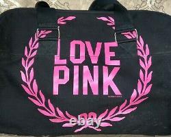 Victoria's Secret Rose Rare Htf 2 Pièces Crest Logo Wheelie Carry-on Bagage Set