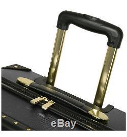 Vince Camuto 3 Piece Hardside Valise Spinner Luggage Set Noir Avec L'or Hardwar