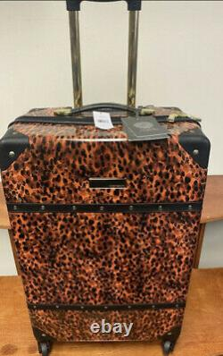 Vince Camuto Indigoh 3pc Luggage Set Spinner Wheels Gold Studs $1080 Vente