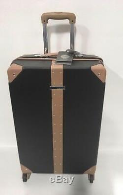 Vince Camuto Laurra De Luggage Set À Roulettes Multidirectionnelles Noir Avec Goujons Pdsf 1080
