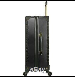 Vince Camuto Noir Jania De Luggage Set À Roulettes Multidirectionnelles Or Goujons Pdsf 1080
