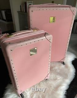 Vince Camuto Pink Luggage Carry On Rollaway Wheelie Suitcase Two Piece Set