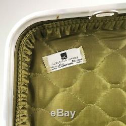 Vintage Doyle Vert Luggage Set Dur Valise Sacs 3 Piece Airline Voyage En Train
