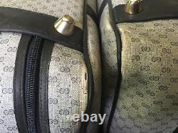 Vintage Gucci Gg Monogram Sac À Bagage Suitcase Set W Verrouillage / Clés
