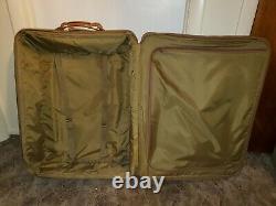 Vintage Hartmann Tweed & Cuir Rolling Bagage Set Et Duffle Bagage