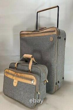 Vintage Hartmann Tweed Luggage Set 15 Tote & 27 Valise Verticale À Roulettes