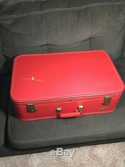 Vintage Lady Baltimore 3 Piece Luggage Set Valise Et Train Case Red 3 Clés