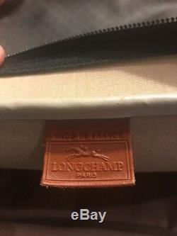 Vintage Longchamp Luggage Set De 3 Carry Duffel Le Costume Voyageurs Vtg