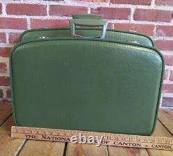 Vintage Nisting Luggage Suitcase Set Of 3 Avocat Green Excellent Fingerhut