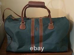 Vintage Polo Ralph Lauren Green Canvas Duffle Travel Weekend Messenger Bags Ensemble