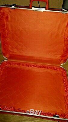 Vintage Set Complet Luggage Set Hardcase Orange Valise De 4 Retro Voyageurs