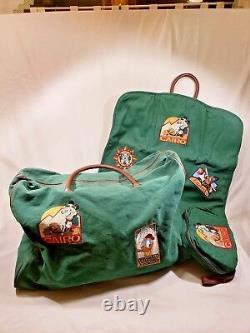 Vintage Trois Pièces De Bagages Disney Ensemble Rare Hard To Find Goofy Pluton Donald