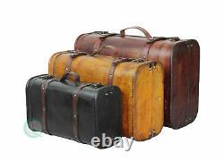 Vintiquewise 3 Couleur Vintage Bagages Valise Style Set Coffre De 3, Qi003068.3