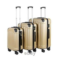Vossbach 3tlg Kofferset Hartschale 4 Rollen Hartschalenkoffer Set Koffer M L XL