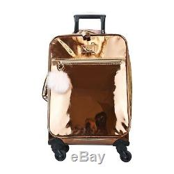 Vue Metallic Premium Collection Carry On 3pc Luggage Set-2070 En Or Rose