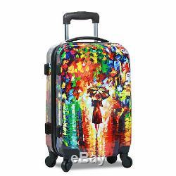 World Traveler 2 Pièces Carry-on Hardside Spinner Luggage Set Nights Paris