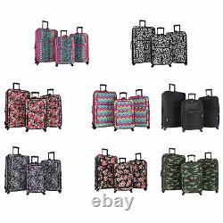 World Traveler 3-piece Rolling Expandable Spinner Bagage Set