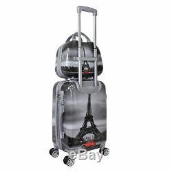 World Traveler Destination 2 Pièces Carry-le Hardside Spinner Luggage Set Paris