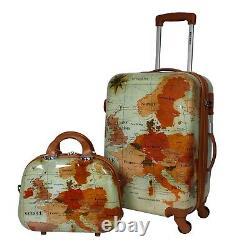 World Traveler Europe 2-piece Carry-on Spinner Luggage Set With Tsa Lock